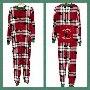 Fammy Jammies Christmas Pajamas Plaid Bears PJs